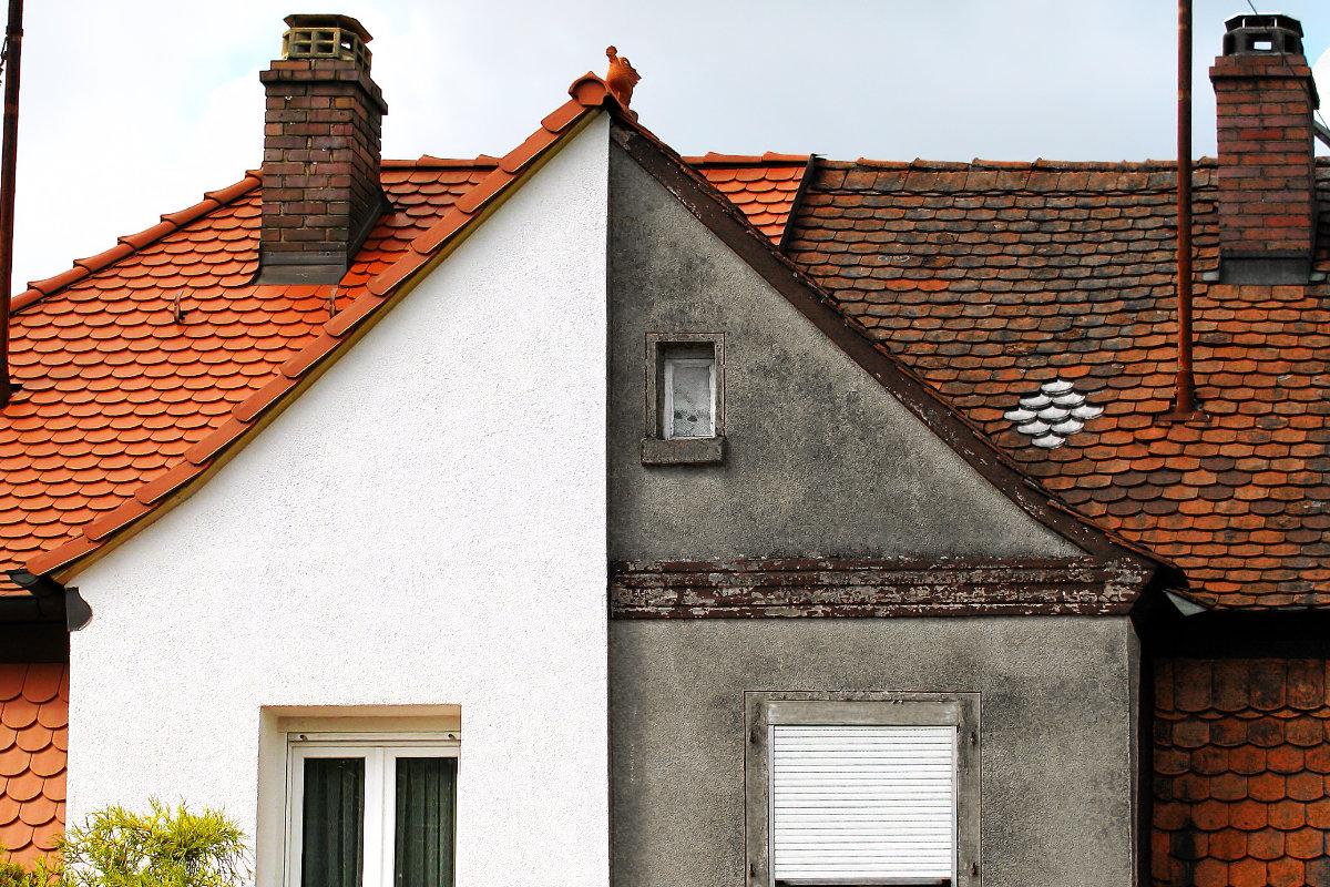 Dak met en zonder dakcoating