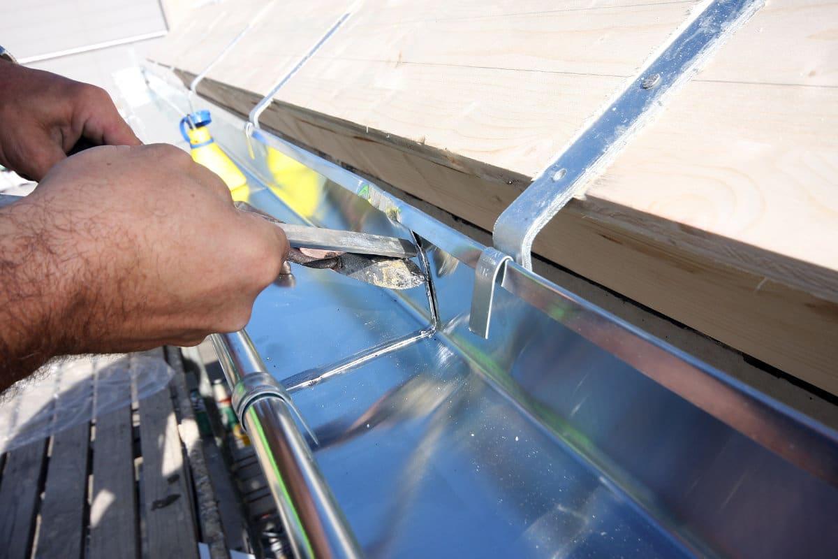 dakgoot reparatie solderen