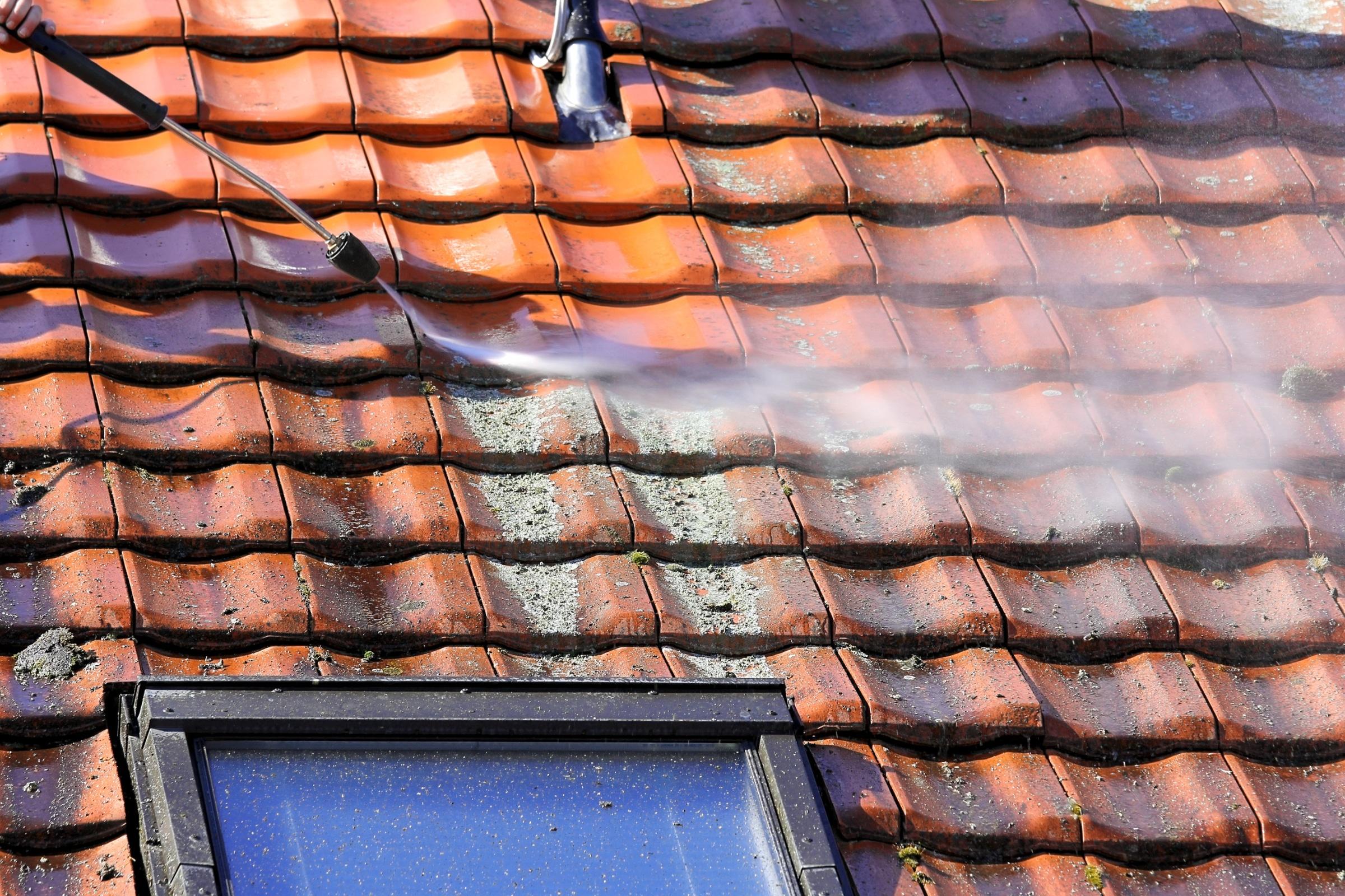 mos verwijderen dak