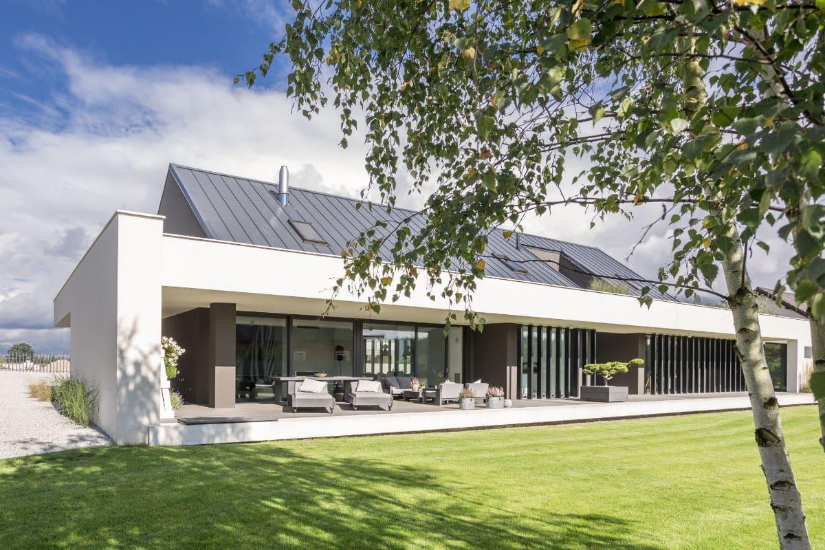 zinken dak op moderne woning